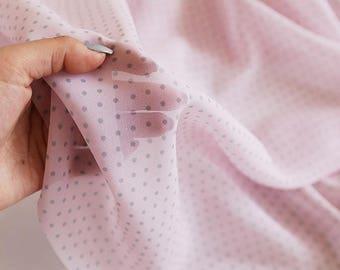 Polka Dot Chiffon fabric by the yard (width 59 inches) 86962-1