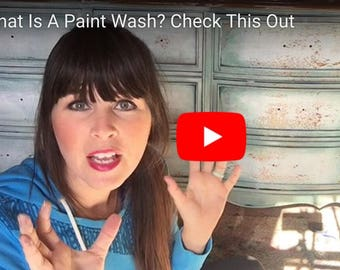 How To DIY Paint Tutorial - What Is A Paint Wash & How To Make It Work For Your Furniture Makeover