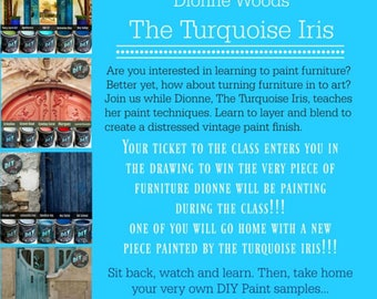 March 24th In Person Paint Workshop with The Turquoise Iris