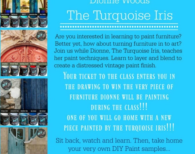 Featured listing image: March 24th In Person Paint Workshop with The Turquoise Iris