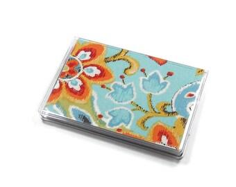 Card Case Mini Wallet Bright Ikat Paisley
