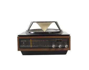 Zenith AM/FM Radio Omni Directional - Circle of Sound - Fully Functional - Working - Vintage - Turntable