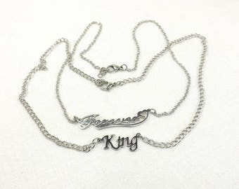 Couples Necklaces stainless steel Jewelry Set Sub dom necklace set Bdsm Gift