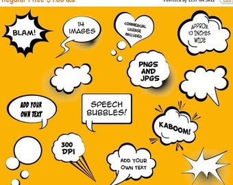 BACK TO SCHOOL Sale Speech Bubbles Clip Art Clipart - Commercial and Personal