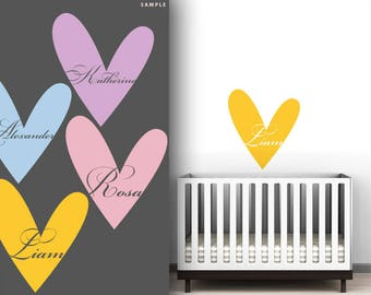 Custom Name Wall Decal Sweetheart by LittleLion Studio