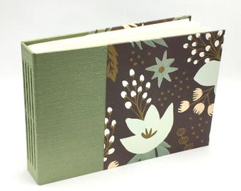 Custom made Photo Album, Sage Green and Wonderland Rifle Paper, Choose Your Size, Personalize it