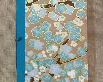 Blossom Booklet with Turquoise Spine