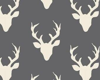 Woodland Rustic Deer, Rustic Deer Nursery, Deer Antlers Nursery Decor, BUCK FOREST Moonstone, Art Gallery Fabrics, Cotton Quilt Fabric