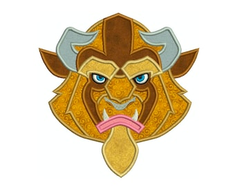 Beauty and the Beast BEAST * Machine Applique Embroidery * Instant Digital Download