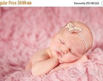 10% SALE Baby headband, newborn headband, adult headband, child headband and photography prop The single sprinkled- sequin butterfly  headba