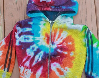 Tie Dye Hoodie Size 3T Upcycled