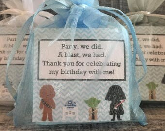 Star Wars Favors:  Baby Shower Favors, Birthday Favors, Baby Sprinkle Favors, Wedding Favors, Bridal Shower Favors, Star Wars theme