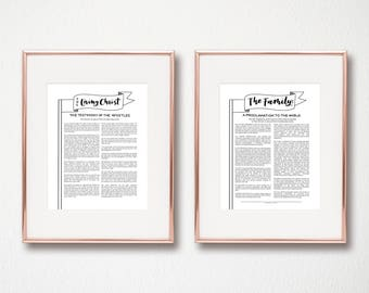 The Living Christ and Family Proclamation Digital Download Instant Art
