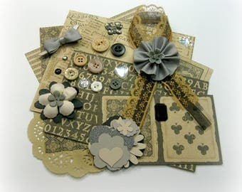 HTF Graphic 45 Kraft Reflections Vintage Style Inspiration Kit Embellishment Kit for Scrapbooking Cards Mini Albums Tags and Paper crafts