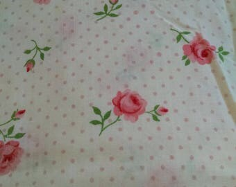 Vintage Flat twin sheet roses Monticello