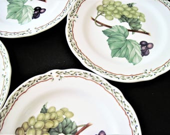 Noritake Primachina, Royal Orchard, Bread and Butter, Royal Orchard Plates, Fruit Plates, Wreath Border, Noritake China, Bread Butter Plates