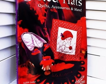 Red Hats Quilts Accessories and More patterns, Red Hat Ladies inspired Book of Quilting and Embroidery Projects, Red Hat Sisterhood Gifts