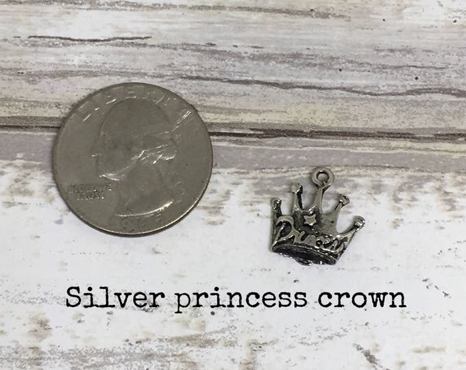 Princess  crown charm necklace