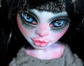 On RESERVE for Kathy Payment 1/3 artist monster high doll custom ooak repaint MH saijanide girl wig outfit included - Priscilla