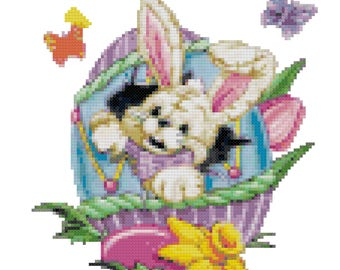 An Easter Surprise Cross Stitch Pattern