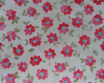 Fabric Lanyard - FUTURE - Happy Flowers on Pale Yellow