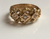 Reserved for Jayne. Stunning Antique Victorian Edwardian 18k Diamond Love Knot Ring Band Engagement Ring
