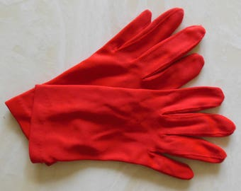 Vintage RED Gloves By Meyers, Size 8