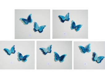 Lot 10 butterflies felted by hand