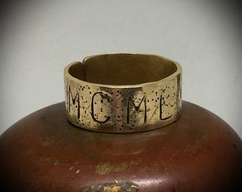 The artifact ring,  birth, anniversary, year in roman numerals made to order custom ring