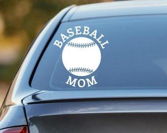 Baseball Decal, Baseball Mom Decal, Baseball Dad Decal, Car Decal, Sports Decal, Laptop Sticker, Laptop Decal, Vinyl Decal, Baseball Sticke