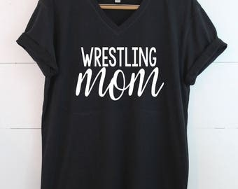 Wrestling Mom- Made to order - Pick your colors - Graphic Tee - Proud Mom Shirt - Sports mom