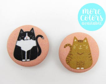 Fat Cat Magnets   Crazy Cat Lady   Cat Lover   Refrigerator Magnets   Office Magnets   Stocking Stuffer   Gifts for Her   Cat Person