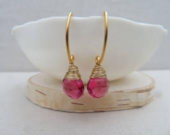 Pretty in Pink Valentine earrings
