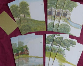 Vintage Current Just-a-Note / Country Sunshine / Stationery