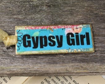 GYPSY GIRL BOOKMARK Boho Gift Stocking Stuffer Gifty Under 20 Teen Gift