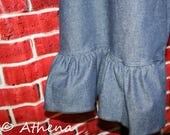 Womens Ruffle Pants Knit ...