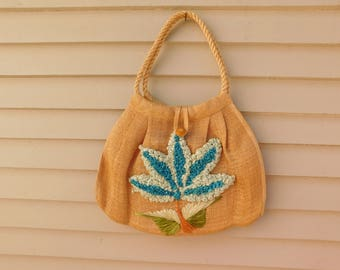 Vintage Woven Straw Bag Made in the Philippines