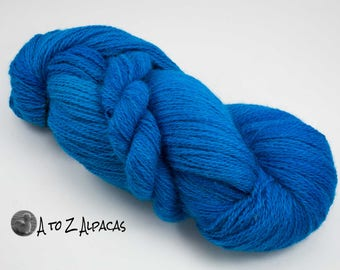 Sock Weight - Hand Dyed Alpaca Yarn - Made in Canada - Blue me Away