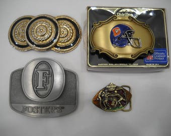 Vintage Lot of 4 Belt Buckles FREE SHIPPING