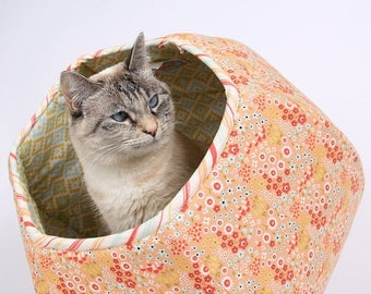 Summer Sale Woodlands Fabric Pet Bed - the Cat Ball modern furniture for cats and small dogs