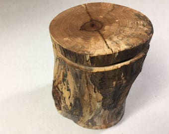 Handcrafted 6 Piece Pecan Wood Log Puzzle Box with secret inner compartment