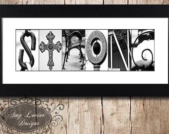 STRONG Alphabet Photography Letter Photos - framed 5x12