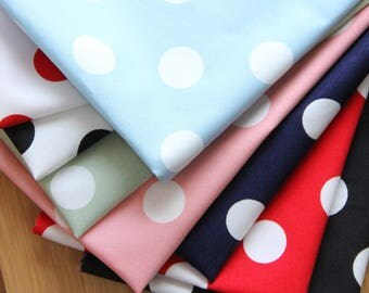 SALE) scrap bundle - dots fabrics - 8 pieces x (28cm x 35cm)
