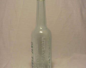 c1920s Florida Water Murray & Lanman Druggists New York, N.Y. , Cork Top Aqua Glass Florida Water Perfume Bottle