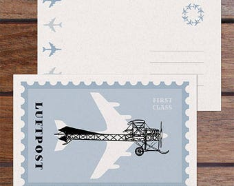 Luftpost Postcard (Single)