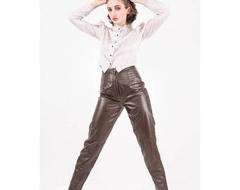 FLASH SALE... Vintage puff sleeve blouse / 1980s pale lavender lurex stripe Victoriana inspired modest / Leg o mutton sleeve / S M