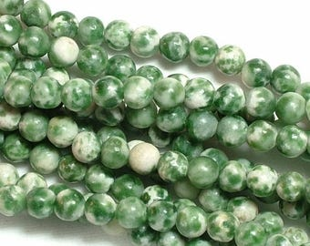 ON SALE tree agate (natural) Bead, 4mm round, you pick from half strand, or full 16 inch strand |GS-0004-04