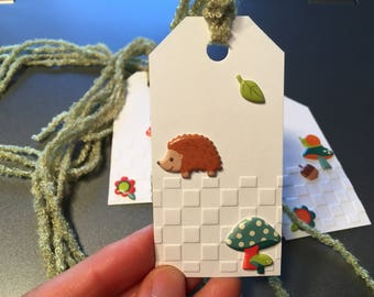 Critter gift tags - Set of 4