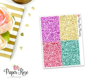 Palm Desert Glitter Headers Planner Stickers