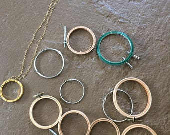 Vintage Lot of Embroidery Hoops